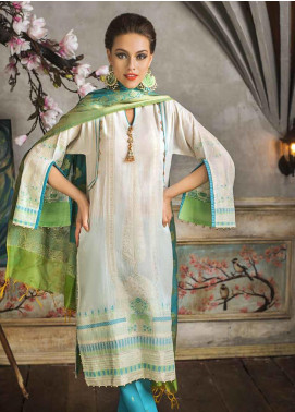 Gul Ahmed Embroidered Jacquard Unstitched 3 Piece Suit GA19CF MJ-12 - Mid Summer Collection