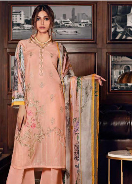 Gul Ahmed Embroidered Jacquard Unstitched 3 Piece Suit GA19CF SSM-30 - Mid Summer Collection