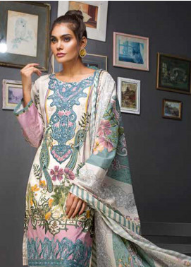 Gul Ahmed Embroidered Cambric Unstitched 2 Piece Suit GA19CF TCE-40 - Mid Summer Collection