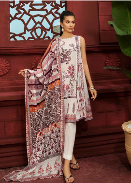 Gul Ahmed Printed Cambric Unstitched 2 Piece Suit GA19CF TCN-39 B - Mid Summer Collection