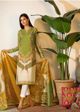 Gul Ahmed Printed Cambric Unstitched 2 Piece Suit GA19CF TCN-43 A - Mid Summer Collection