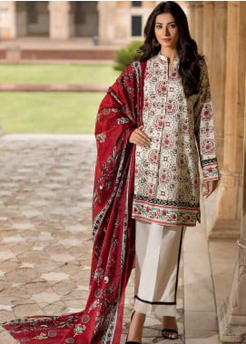 Gul Ahmed Printed Cambric Unstitched 2 Piece Suit GA19CF TCN-44 A - Mid Summer Collection