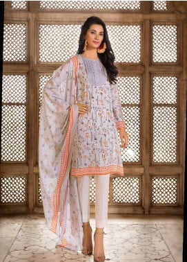 Gul Ahmed Printed Cambric Unstitched 2 Piece Suit GA19CF TCN-45 A - Mid Summer Collection