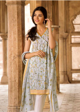 Gul Ahmed Printed Cambric Unstitched 2 Piece Suit GA19CF TCN-45 B - Mid Summer Collection