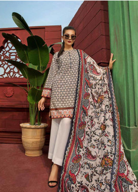 Gul Ahmed Printed Cambric Unstitched 2 Piece Suit GA19CF TCN-46 B - Mid Summer Collection