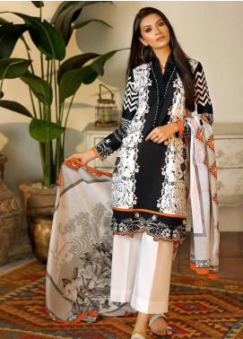 Gul Ahmed Printed Cambric Unstitched 2 Piece Suit GA19CF TCN-47 A - Mid Summer Collection