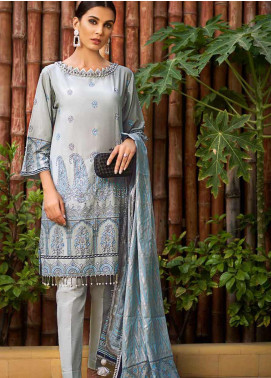 Gul Ahmed Embroidered Cotton Silk Unstitched 3 Piece Suit GAF19CS EA-100 - Festive Collection