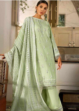 Gul Ahmed Embroidered Cotton Silk Unstitched 3 Piece Suit GAF19CS EA-97 - Festive Collection