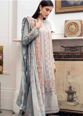 Gul Ahmed Embroidered Cotton Silk Unstitched 3 Piece Suit GA19E FE-174 - Eid Collection