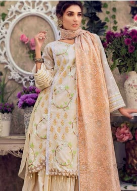 Gul Ahmed Embroidered Cotton Unstitched 3 Piece Suit GA19E FE-181 - Eid Collection