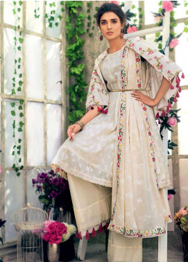 Gul Ahmed Embroidered Cotton Unstitched 3 Piece Suit GA19E FE-184 - Eid Collection