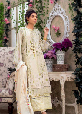 Gul Ahmed Embroidered Cotton Unstitched 3 Piece Suit GA19E FE-185 - Eid Collection
