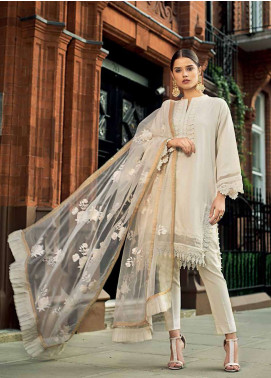 Gul Ahmed Embroidered Viscose Unstitched 3 Piece Suit GA19E FE-201 - Eid Collection