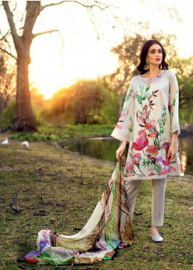Gul Ahmed Embroidered Cotton Silk Unstitched 3 Piece Suit GA19E FE-219 - Eid Collection