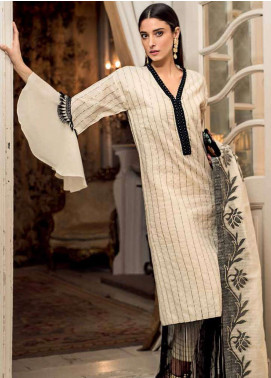 Gul Ahmed Embroidered Lawn Unstitched 3 Piece Suit GA19E FE-222 - Eid Collection