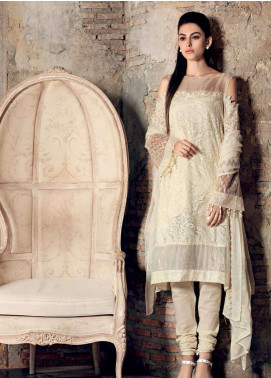 Gul Ahmed Embroidered Chiffon Unstitched 3 Piece Suit GA19E FE-227 - Eid Collection
