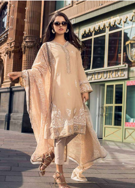Gul Ahmed Embroidered Jacquard Unstitched 3 Piece Suit GA19E FE-233 - Eid Collection