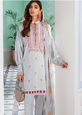Gul Ahmed Embroidered Cotton Silk Unstitched 3 Piece Suit GA20FH FE-324 - Festive Collection