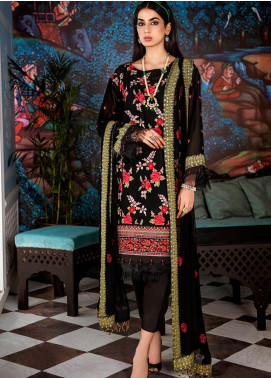 Gul Ahmed Embroidered Swiss Voile Unstitched 3 Piece Suit GA20FH FE-333 - Festive Collection