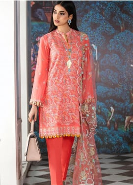 Gul Ahmed Embroidered Swiss Voile Unstitched 3 Piece Suit GA20FH FE-337 - Festive Collection