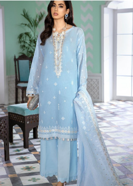 Gul Ahmed Embroidered Zari Unstitched 3 Piece Suit GA20FH FE-339 - Festive Collection