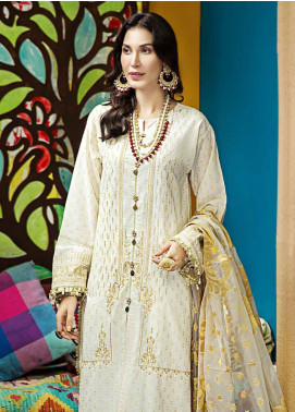 Gul Ahmed Embroidered Dobby Unstitched 3 Piece Suit GA20E FE 286 - Luxury Collection