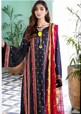 Gul Ahmed Embroidered Cotton Silk Unstitched 3 Piece Suit GA20E FE 321 - Luxury Collection