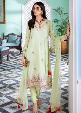 Gul Ahmed Embroidered Cotton Silk Unstitched 3 Piece Suit GA20E FE 323 - Luxury Collection