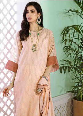 Gul Ahmed Embroidered Yarn Unstitched 3 Piece Suit GA20E FE 342 - Luxury Collection