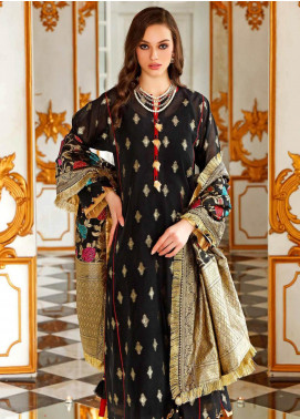 Gul Ahmed Printed Jacquard Unstitched 3 Piece Suit GA20FP 270 - Festive Collection