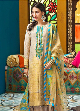 Gul Ahmed Embroidered Jacquard Unstitched 3 Piece Suit GA20FP 280 - Festive Collection