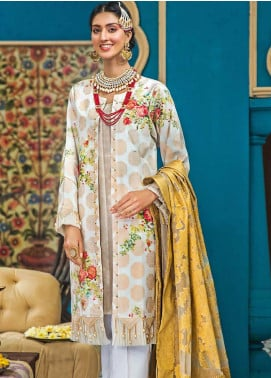 Gul Ahmed Embroidered Jacquard Unstitched 3 Piece Suit GA20FP 281 - Festive Collection