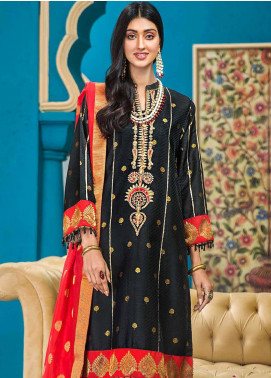 Gul Ahmed Embroidered Jacquard Unstitched 3 Piece Suit GA20FP 285 - Festive Collection