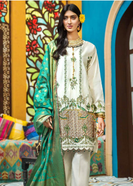 Gul Ahmed Embroidered Jacquard Unstitched 3 Piece Suit GA20FP 288 - Festive Collection