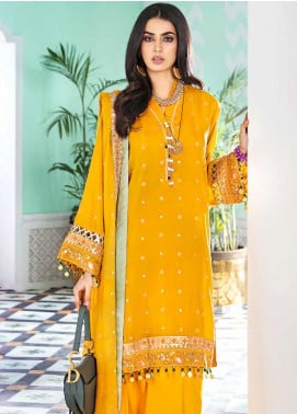 Gul Ahmed Embroidered Cotton Silk Unstitched 3 Piece Suit GA20FP 326 - Festive Collection