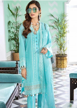 Gul Ahmed Embroidered Viscose Unstitched 3 Piece Suit GA20FP 340 - Festive Collection