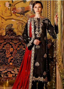 Gul Ahmed Embroidered Raw Silk Unstitched 3 Piece Suit GA20FP 344 - Festive Collection