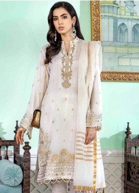 Gul Ahmed Embroidered Woven Unstitched 3 Piece Suit GA20FP 346 - Festive Collection