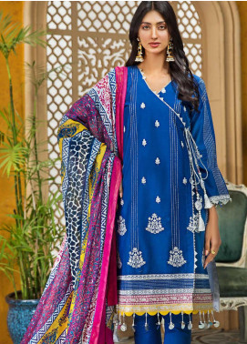 Gul Ahmed Embroidered Lawn Unstitched 3 Piece Suit GA20FP 360 - Festive Collection