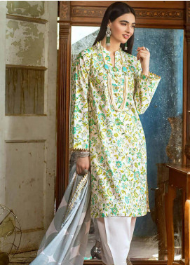 Gul Ahmed Embroidered Lawn Unstitched 2 Piece Suit GA20FP 364 - Festive Collection