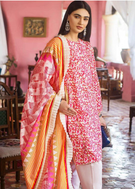 Gul Ahmed Embroidered Lawn Unstitched 2 Piece Suit GA20FP 365 - Festive Collection