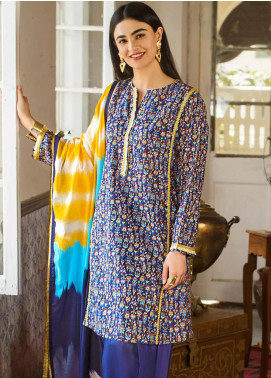 Gul Ahmed Embroidered Lawn Unstitched 2 Piece Suit GA20FP 366 - Festive Collection