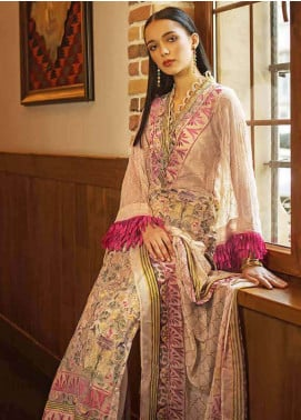 Gul Ahmed Embroidered Cotton Unstitched 3 Piece Suit GA19FB PS-07 Persian Tapestry - Formal Collection