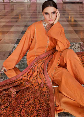 Gul Ahmed Embroidered Jacquard Unstitched 3 Piece Suit GA20GL FE-271 B - Winter Collection