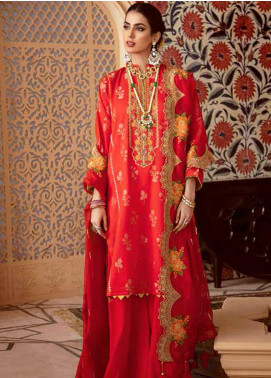 Gul Ahmed Embroidered Jacquard Unstitched 3 Piece Suit GA20GL FE-274 - Winter Collection