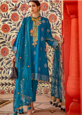 Gul Ahmed Embroidered Jacquard Unstitched 3 Piece Suit GA20GL FE-278 - Winter Collection