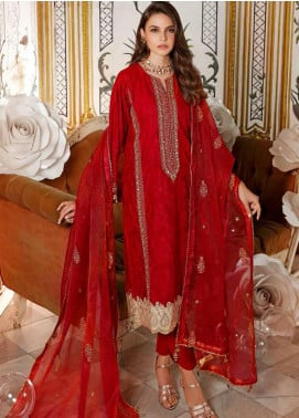 Gul Ahmed Embroidered Organza Unstitched 3 Piece Suit GA20GL FE-296 - Winter Collection