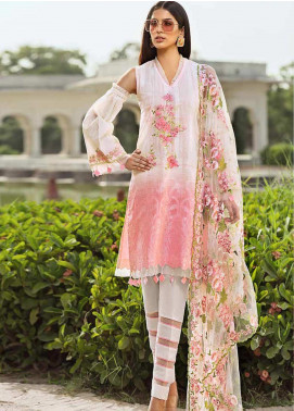 Gul Ahmed Embroidered Cotton Unstitched 3 Piece Suit GAG19F EA-60 - Festive Collection