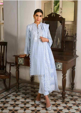 Gul Ahmed Embroidered Cotton Silk Unstitched 3 Piece Suit GAG19F EA-64 - Festive Collection