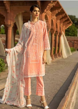 Gul Ahmed Embroidered Cotton Unstitched 3 Piece Suit GAG19F EA-66 - Festive Collection